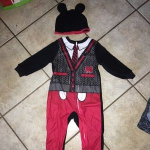 Other - Cutest Disney Mickey Mouse Footed Pjs w/hat